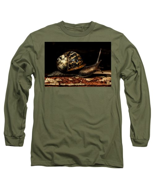 Long Sleeve T-Shirt featuring the photograph Slow Mover by Nick Bywater