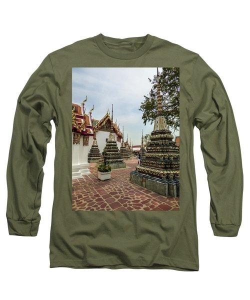 Small Beautiful Stupas At Wat Pho Temple Long Sleeve T-Shirt