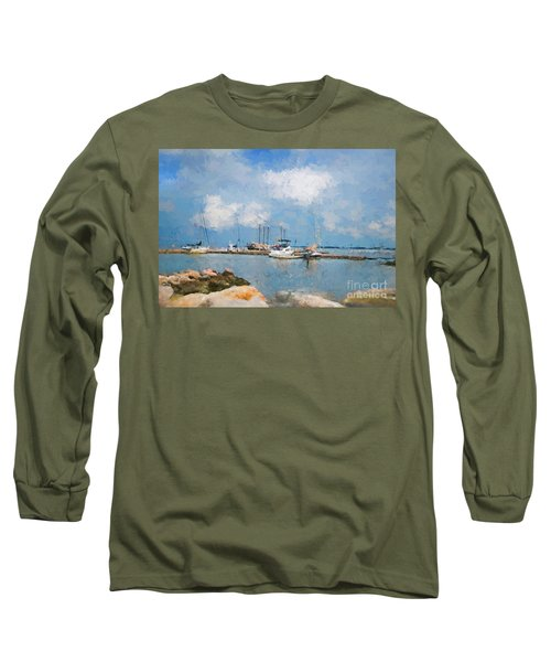 Small Dock With Boats Long Sleeve T-Shirt