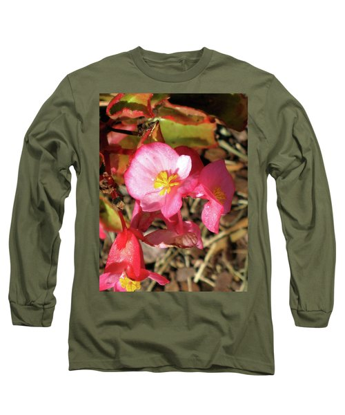 Small Pink Flowers Of Summer Long Sleeve T-Shirt by Michele Wilson