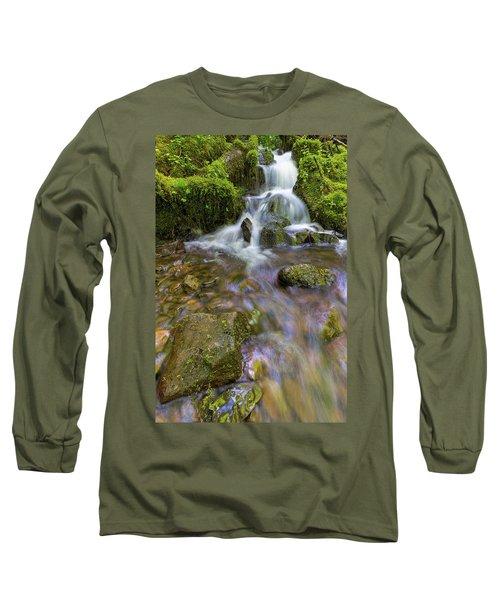 Small Waterfalls Along Wahkeena Creek Long Sleeve T-Shirt