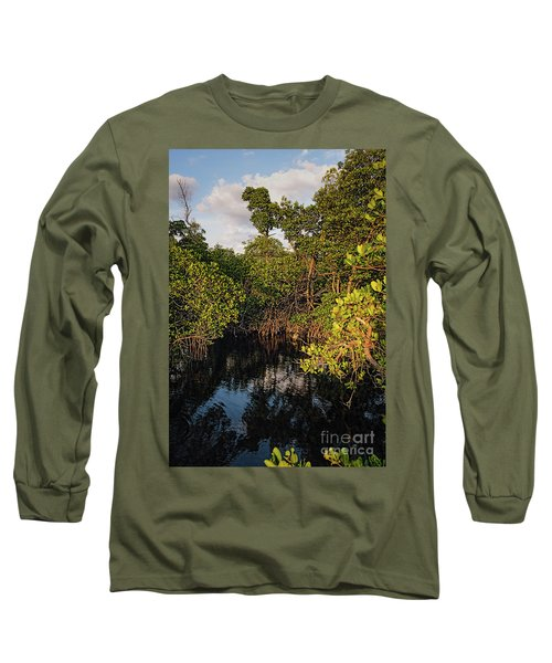Long Sleeve T-Shirt featuring the photograph Small Waterway In Vitolo Preserve, Hutchinson Isl  -29151 by John Bald