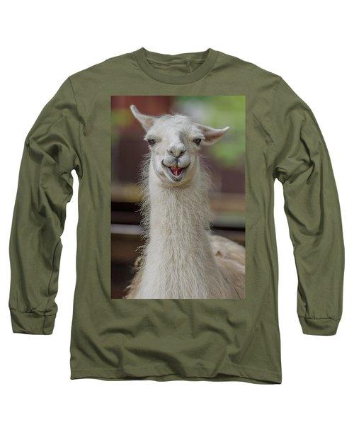 Smiling Alpaca Long Sleeve T-Shirt