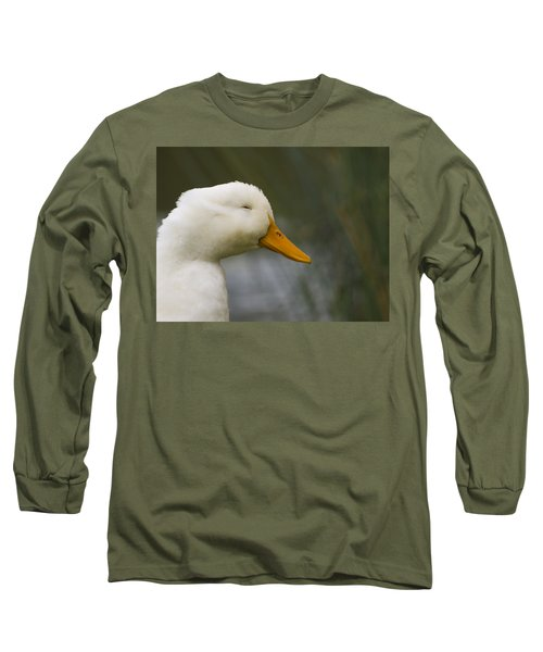 Smiling Pekin Duck Long Sleeve T-Shirt by Tara Lynn