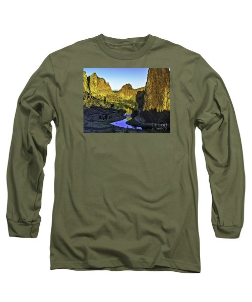 Long Sleeve T-Shirt featuring the photograph Smith Rock, Oregon by Nancy Marie Ricketts