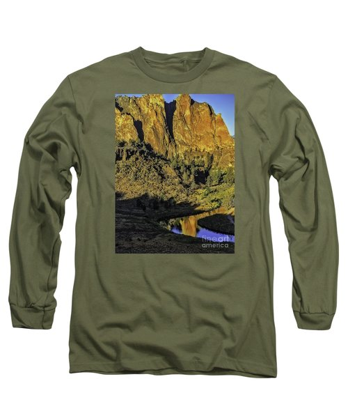 Long Sleeve T-Shirt featuring the photograph Smith Rock Reflections-1 by Nancy Marie Ricketts