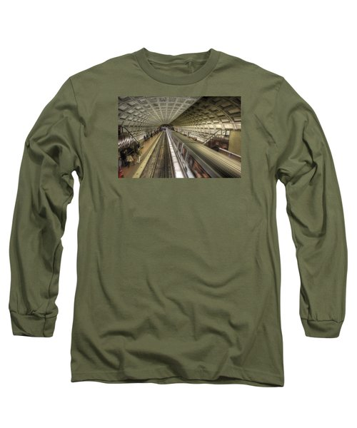 Smithsonian Metro Station Long Sleeve T-Shirt by Shelley Neff