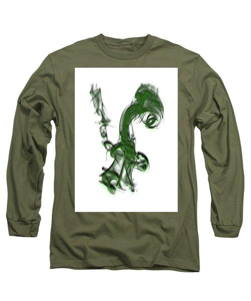 Smoke 01 - Green Long Sleeve T-Shirt