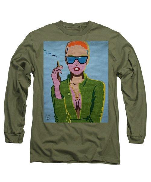 Smoking Woman Sunglasses  Long Sleeve T-Shirt