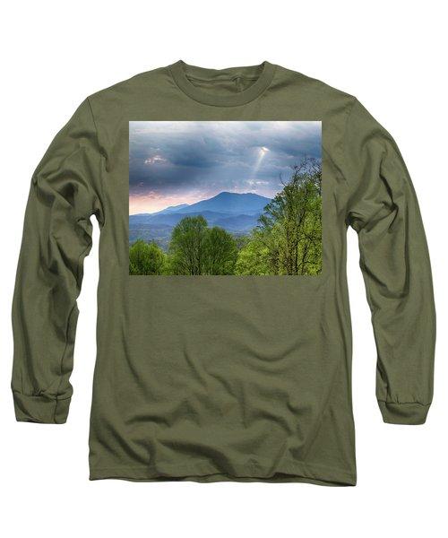 Long Sleeve T-Shirt featuring the photograph Smoky Mountain Light by Alan Raasch