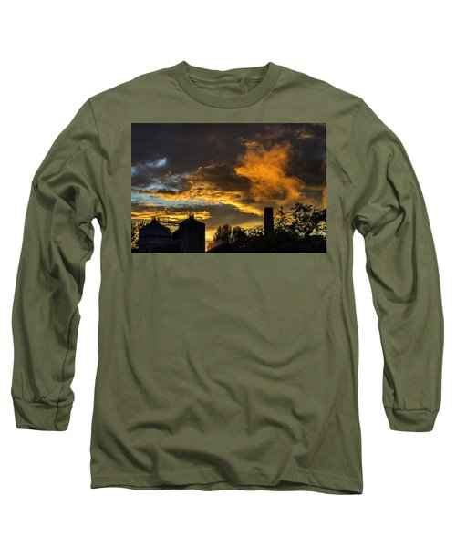 Long Sleeve T-Shirt featuring the photograph Smoky Sunset by Jeremy Lavender Photography