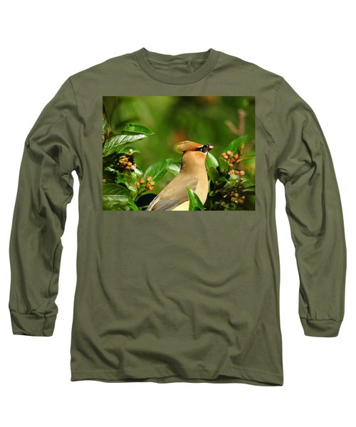 Long Sleeve T-Shirt featuring the photograph Snacking by Betty-Anne McDonald