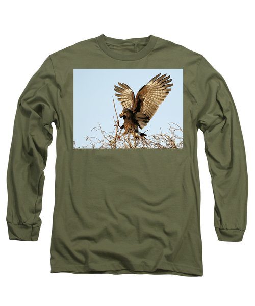 Snail Kite Coming In Long Sleeve T-Shirt