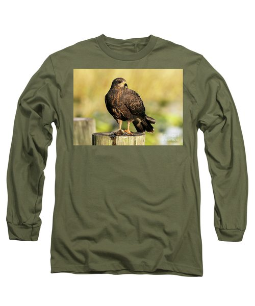 Snail Kite With A Snack Long Sleeve T-Shirt