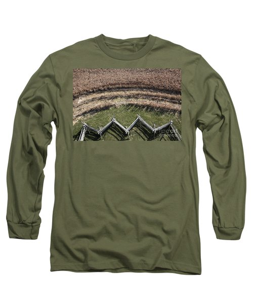 Snake-rail Fence And Cornfield Long Sleeve T-Shirt
