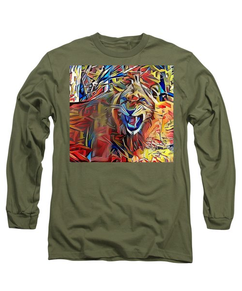 Snarling Lion Long Sleeve T-Shirt