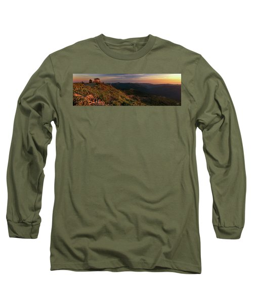 Snow Camp Lookout Long Sleeve T-Shirt by Leland D Howard