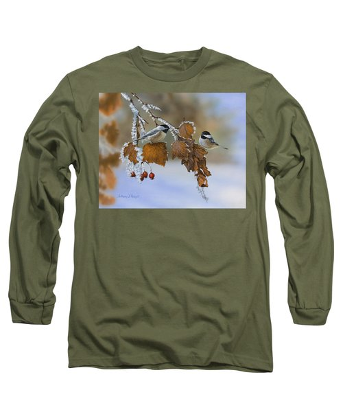 Snow Chickadees Long Sleeve T-Shirt