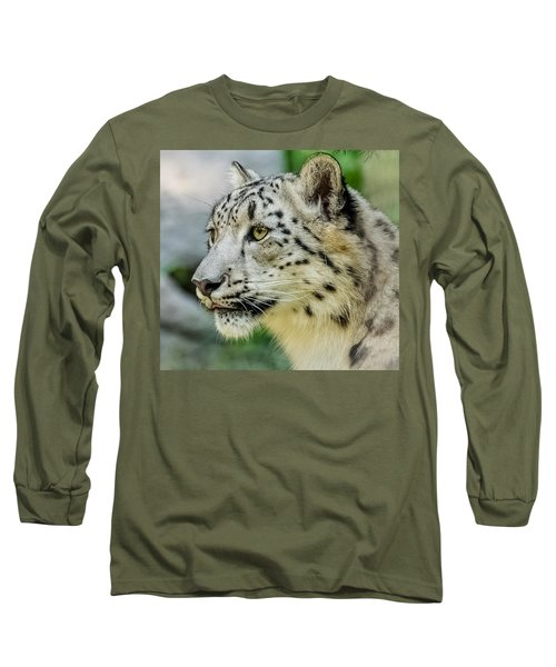 Snow Leopard Portrait Long Sleeve T-Shirt