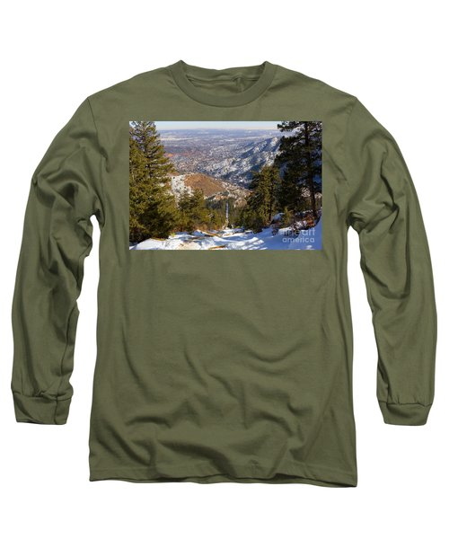 Snow On The Manitou Incline In Wintertime Long Sleeve T-Shirt