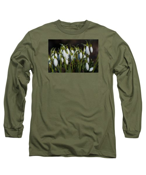 Snowdrops Long Sleeve T-Shirt by Dan Hefle