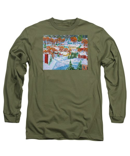 Snowed In Long Sleeve T-Shirt by Mike Caitham