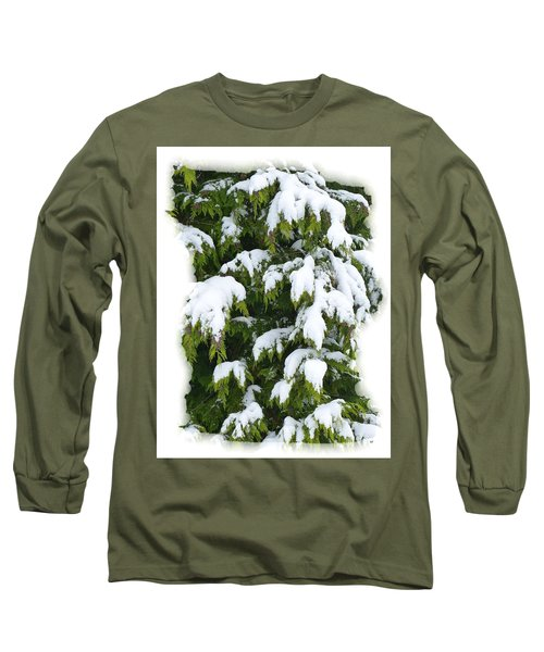 Long Sleeve T-Shirt featuring the photograph Snowy Cedar Boughs by Will Borden