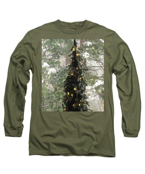 Snowy Christmas Long Sleeve T-Shirt