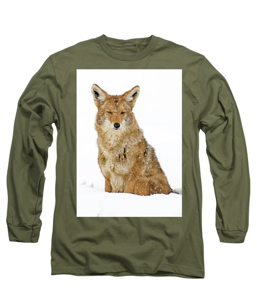 Snowy Coyote Long Sleeve T-Shirt