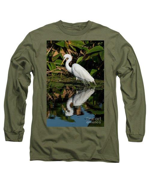 Snowy Egret Long Sleeve T-Shirt