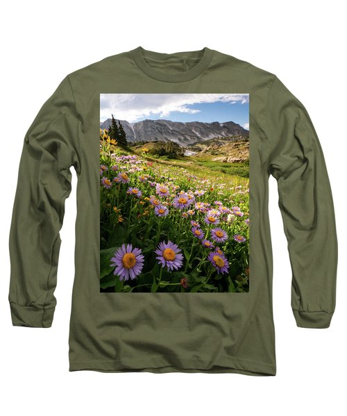 Snowy Range Flowers Long Sleeve T-Shirt