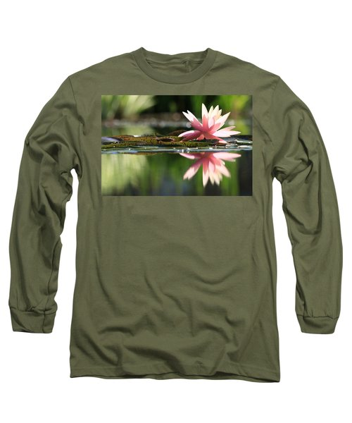 Soft Pink Water Lily Long Sleeve T-Shirt