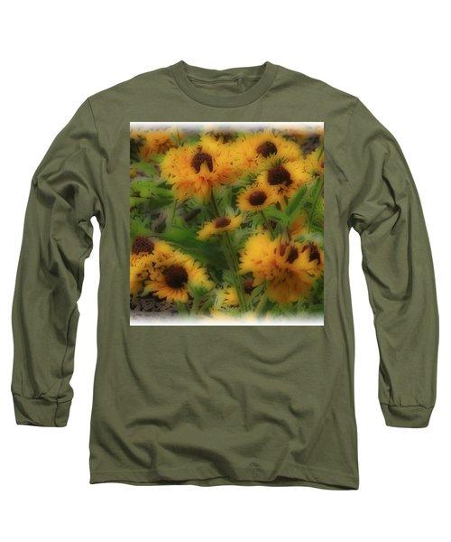 Soft Touch Black Eyed Suzy's  Long Sleeve T-Shirt by Debra     Vatalaro