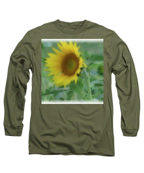 Soft Touch Sunflower Long Sleeve T-Shirt by Debra     Vatalaro