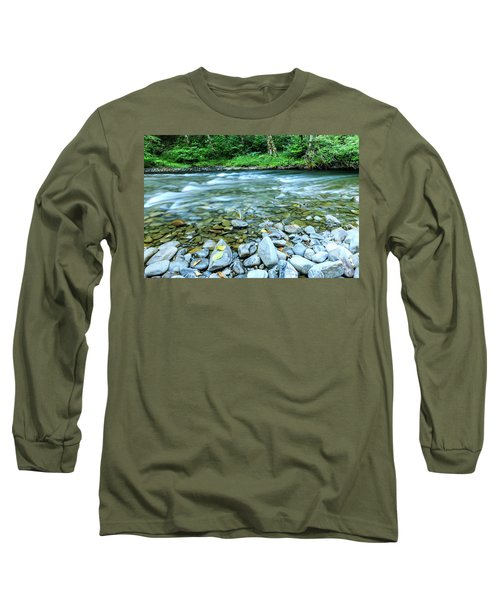 Sol Duc River In Summer Long Sleeve T-Shirt