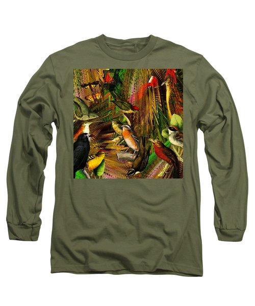 Solar Birds Of Paris Long Sleeve T-Shirt