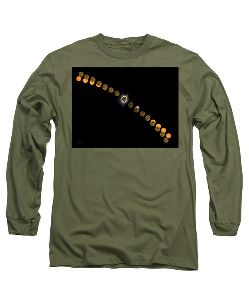 Solar Eclipse Stages 2017 Long Sleeve T-Shirt
