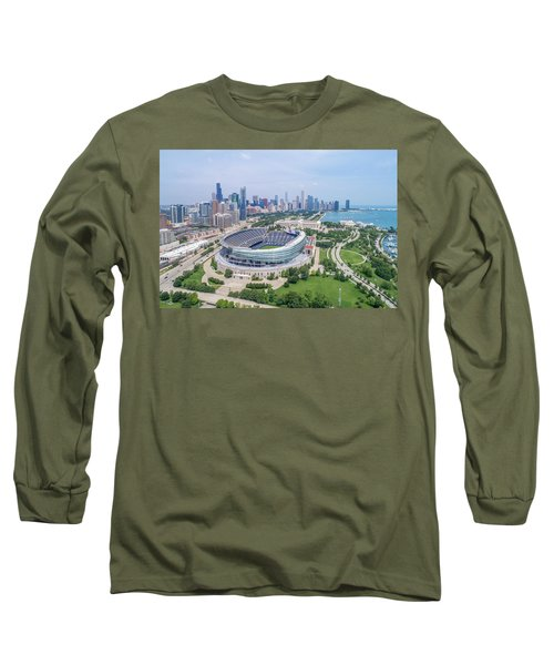 Long Sleeve T-Shirt featuring the photograph Soldier Field by Sebastian Musial