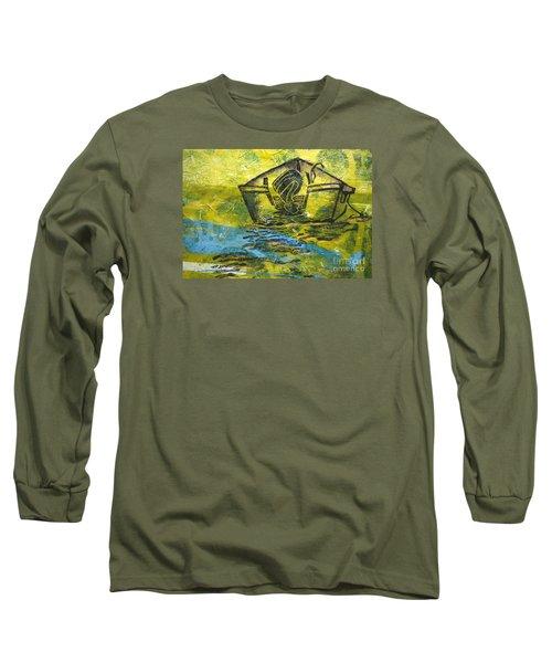 Solitaire Long Sleeve T-Shirt by Cynthia Lagoudakis