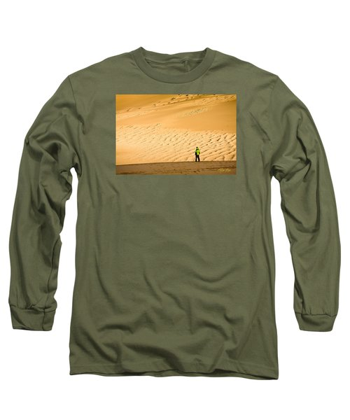 Long Sleeve T-Shirt featuring the photograph Solitude In The Dunes by Rikk Flohr