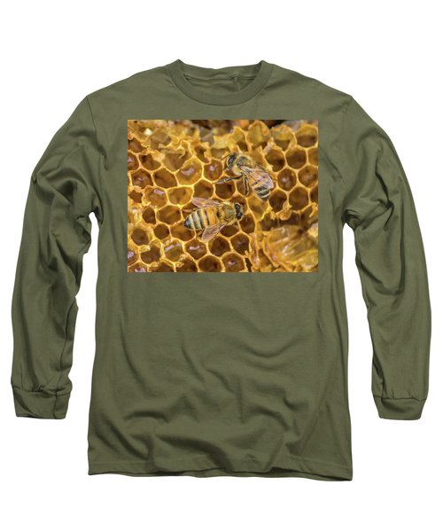 Long Sleeve T-Shirt featuring the photograph Some Of Your Beeswax by Bill Pevlor