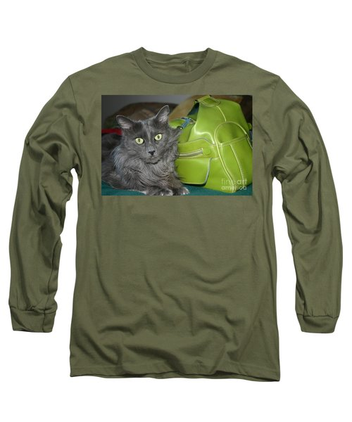 Someone Say Green? Long Sleeve T-Shirt by Marie Neder