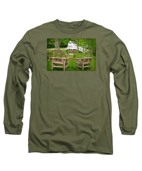 Somesville Maine - Arched Bridge Long Sleeve T-Shirt