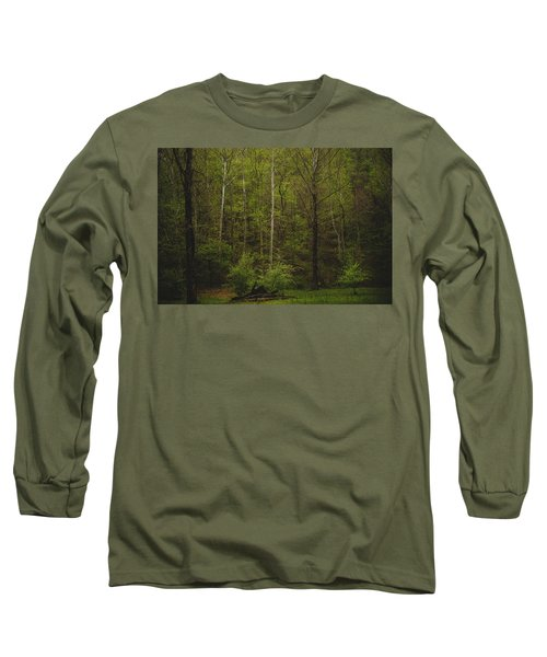 Long Sleeve T-Shirt featuring the photograph Somewhere In The Woods by Shane Holsclaw