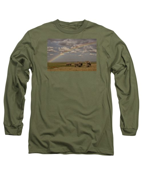 Long Sleeve T-Shirt featuring the photograph Somewhere Under The Rainbow by Gary Hall