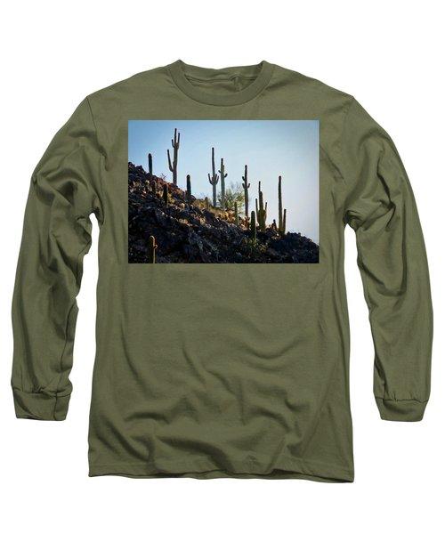 Sonoran Desert Saguaro Slope Long Sleeve T-Shirt