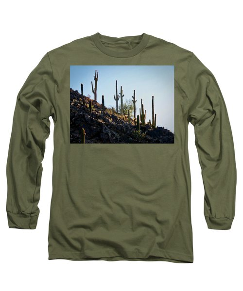 Sonoran Desert Saguaro Slope Long Sleeve T-Shirt