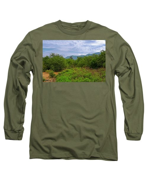 Long Sleeve T-Shirt featuring the photograph Sonoran Greenery H30 by Mark Myhaver