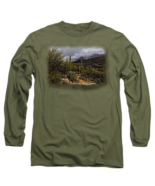 Sonoran Winter No.3 Long Sleeve T-Shirt by Mark Myhaver