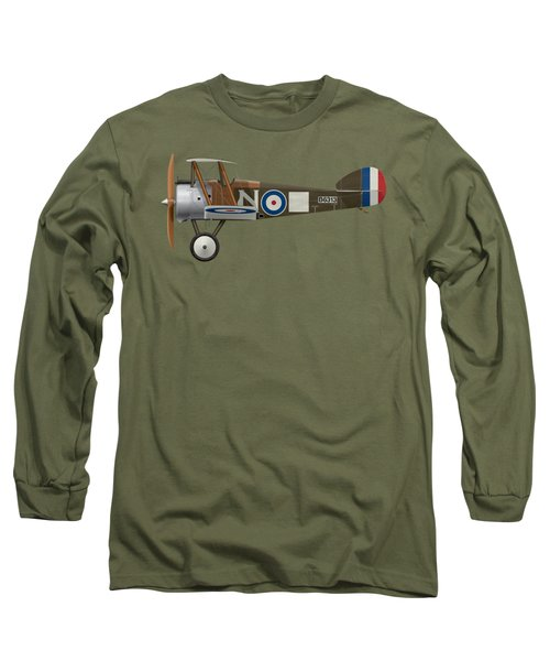 Sopwith Camel - B6313 March 1918 - Side Profile View Long Sleeve T-Shirt by Ed Jackson